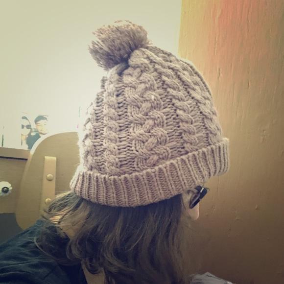 20a6d7092ff Mauve pink winter Pom hat. M 5ba66b754cdc30e53d4b76b8